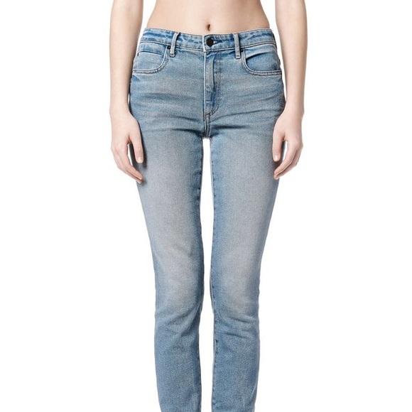Alexander Wang Woman Faded High-rise Skinny Jeans Light Denim Size 26 Alexander Wang Discount Big Sale PXM6NlAi1